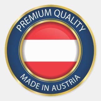 Gemacht in Österreich-Flagge, österreichisches Runder Aufkleber