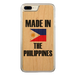 Gemacht in Philippinen-Flagge Carved iPhone 7 Plus Hülle