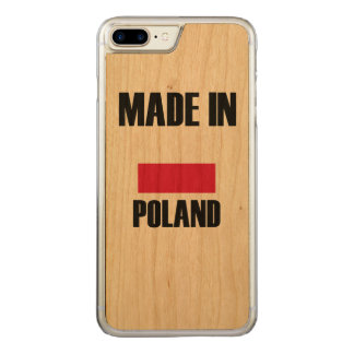 Gemacht in Polen-Flagge Carved iPhone 8 Plus/7 Plus Hülle