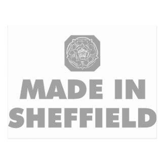 Gemacht in Sheffield Postkarte