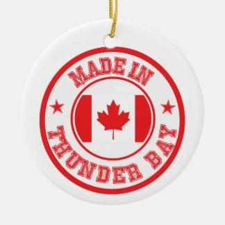 Gemacht in Thunder Bay Rundes Keramik Ornament