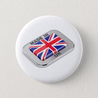 Gemacht in Vereinigtem Königreich Runder Button 5,7 Cm