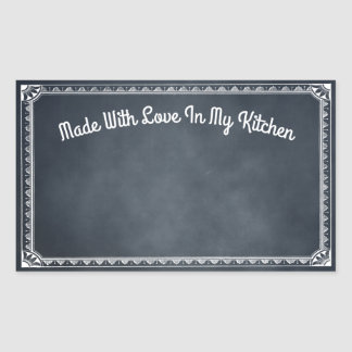 Gemacht mit Liebe in meinem Küchen-Tafel-Aufkleber