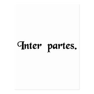 Gemacht zwischen zwei Parteien Postkarten