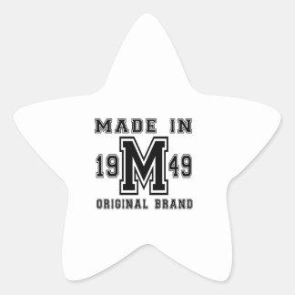 GEMACHTE IM JAHRE 1949 URSPRÜNGLICHE Stern-Aufkleber