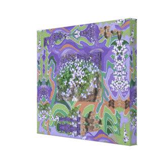 Gemalt auf Blumen-Foto - klein Leinwanddruck
