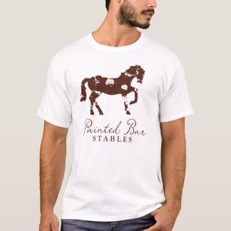 Gemalte Bar-Ställe - einfacher T - Shirt