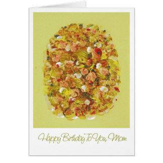 Gemalte Blumen-Mamma-Geburtstags-Gruß-Karte Grußkarte