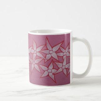 Gemalte Blumen-Tasse Kaffeetasse