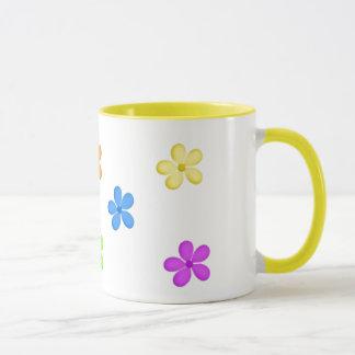 Gemalte Blumen-Tasse Tasse
