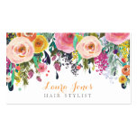 Gemalte Blumenhaar-Stylist-Verabredungs-Karten Visitenkarten