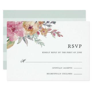 Gemalte Blüte UAWG Karte
