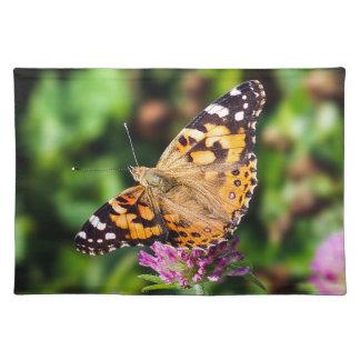 Gemalte Dame Butterfly Cloth Placemat Stofftischset