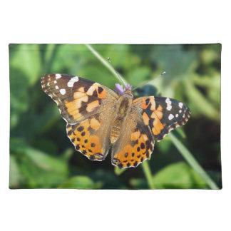 Gemalte Dame Butterfly Cloth Placemat Tischset