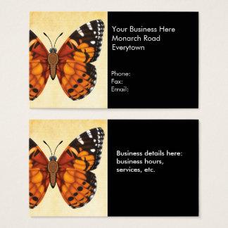 Gemalte Dame Butterfly Visitenkarte