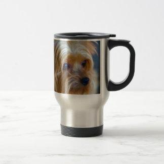 Gemalte Dame Yorkshire Terrier Reisebecher