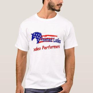 Gemalte Damen Rodeo-Ausführende T-Shirt
