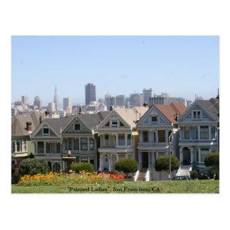 Gemalte Damen, San Francisco Postkarte