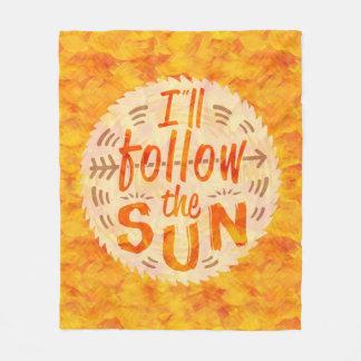 Gemalte die Sommer-sonnige Orange folgen Fleecedecke