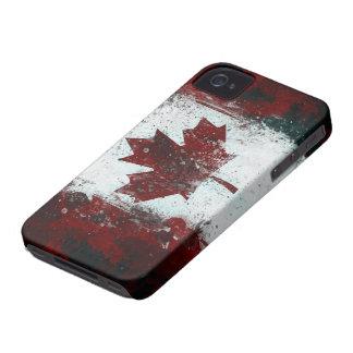 Gemalte kanadische Flagge iPhone 4 Case-Mate Hülle