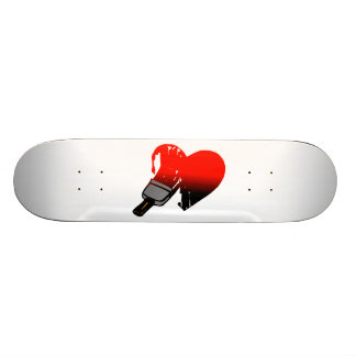 Gemalte Liebe 18,1 Cm Old School Skateboard Deck