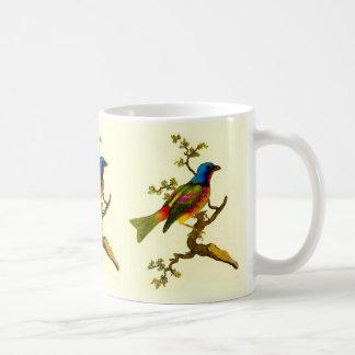 Gemalte mit dem Kopfe stoßende Vogel-Tasse Kaffeetasse
