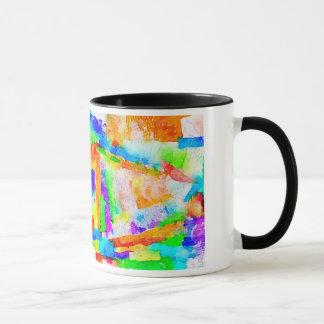 Gemalte Papiercollagen-Tasse Tasse