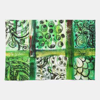 Gemalte Quadrat-Kunst 2 Handtuch