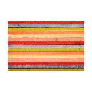 Gemalte Regenbogen-hölzerne Strand-Platte Leinwanddruck