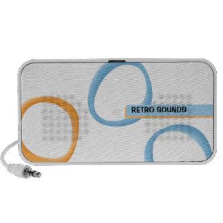 Gemalte Retro Kreis-blaue Gekritzel-Lautsprecher Mini Speaker