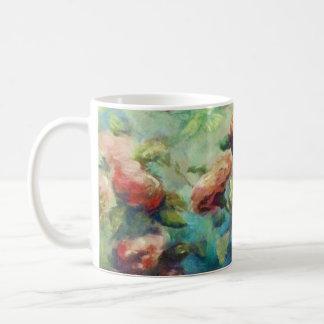 Gemalte Rosen-Keramik-Tasse Kaffeetasse