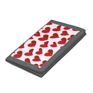 Gemalte rote Herz-Liebe der Illustration Muster
