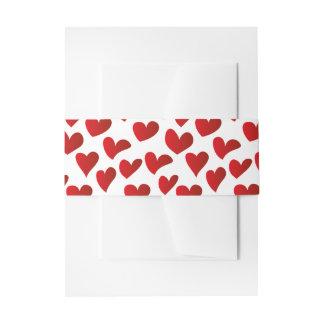 Gemalte rote Herz-Liebe der Illustration Muster Einladungsbanderole