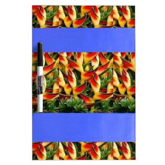 Gemalte Streifen der Schablone Blumen addieren TXT Memoboard