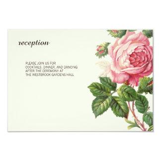 Gemalte Vintage Rose Boho Hochzeit 8,9 X 12,7 Cm Einladungskarte