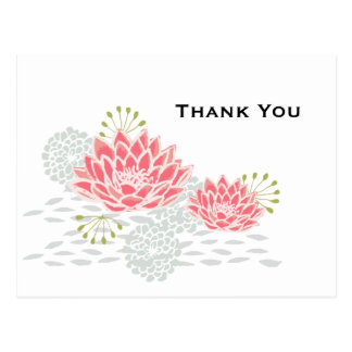 Gemalte Wasserlilie - danke Postkarte