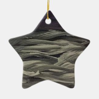 gemalte Wolken Keramik Stern-Ornament