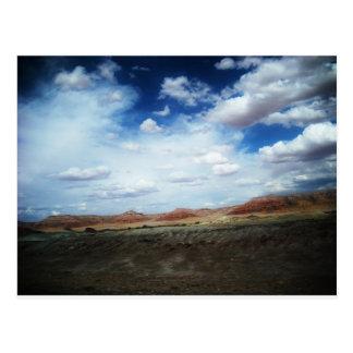 Gemalte Wüste, AZ Postkarte