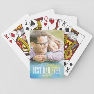 Gemalter bester Vati überhaupt Spielkarten