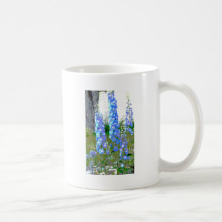 Gemalter Delphinium Kaffeetasse