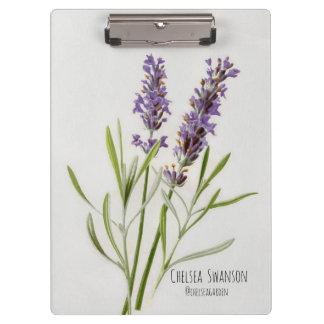 Gemalter LavendelSprig Klemmbrett