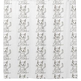 Gemalter Miezekatze-Duschvorhang Duschvorhang