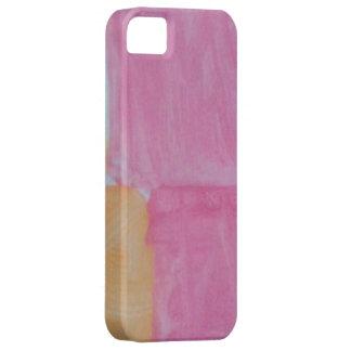 """Gemalter"" rosa Telefonkasten iPhone 5 Schutzhülle"