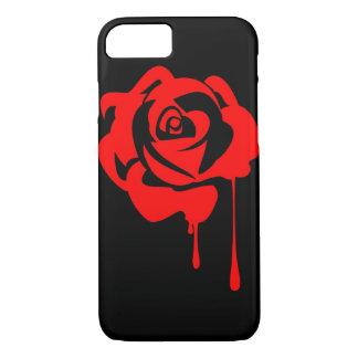 Gemalter Rose iPhone 7 Fall mit schwarzem iPhone 8/7 Hülle