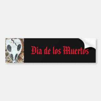 gemalter Schädel dia de Los Muertos Autoaufkleber