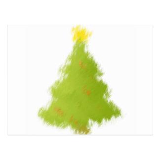 Gemalter Weihnachtsbaum Postkarte