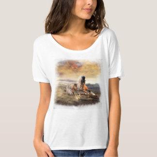 Gemalter Wüsten-Pferdefreund-T - Shirt sehen