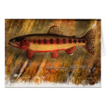 Gemaltes Fisch-BD Grußkarten