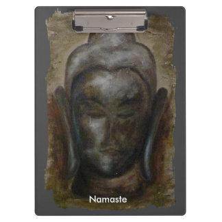 gemaltes Gesicht von Buddha Klemmbrett