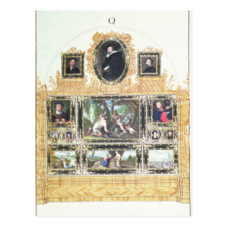 Gemaltes Inventar des Buch-I f.Q des Kaisers Postkarte